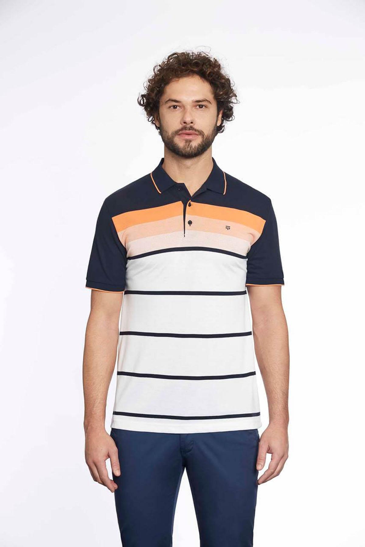 Polo Yaka Erkek T-Shirt Laci Melon