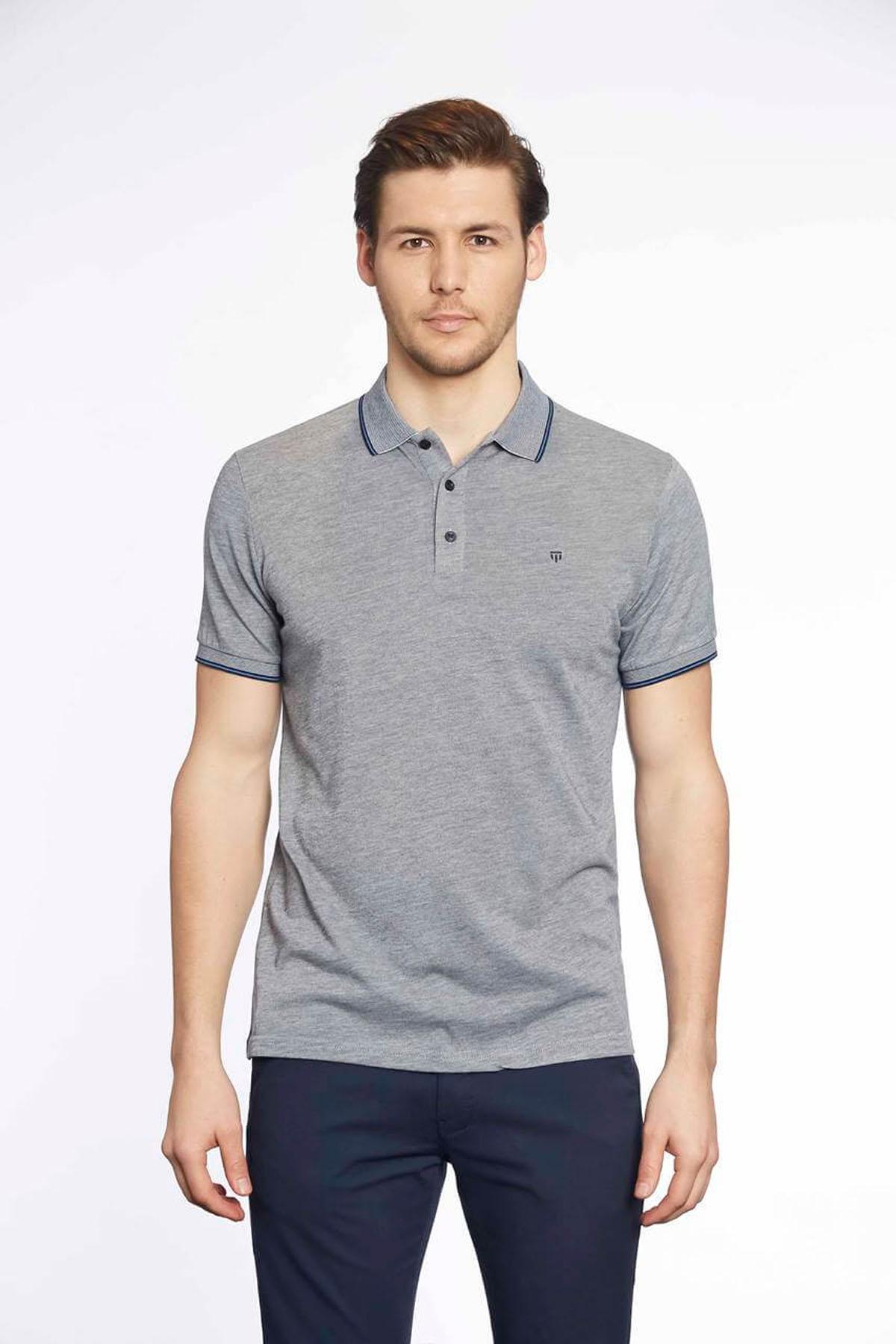 Polo Yaka Erkek T-Shirt Laci Beyaz