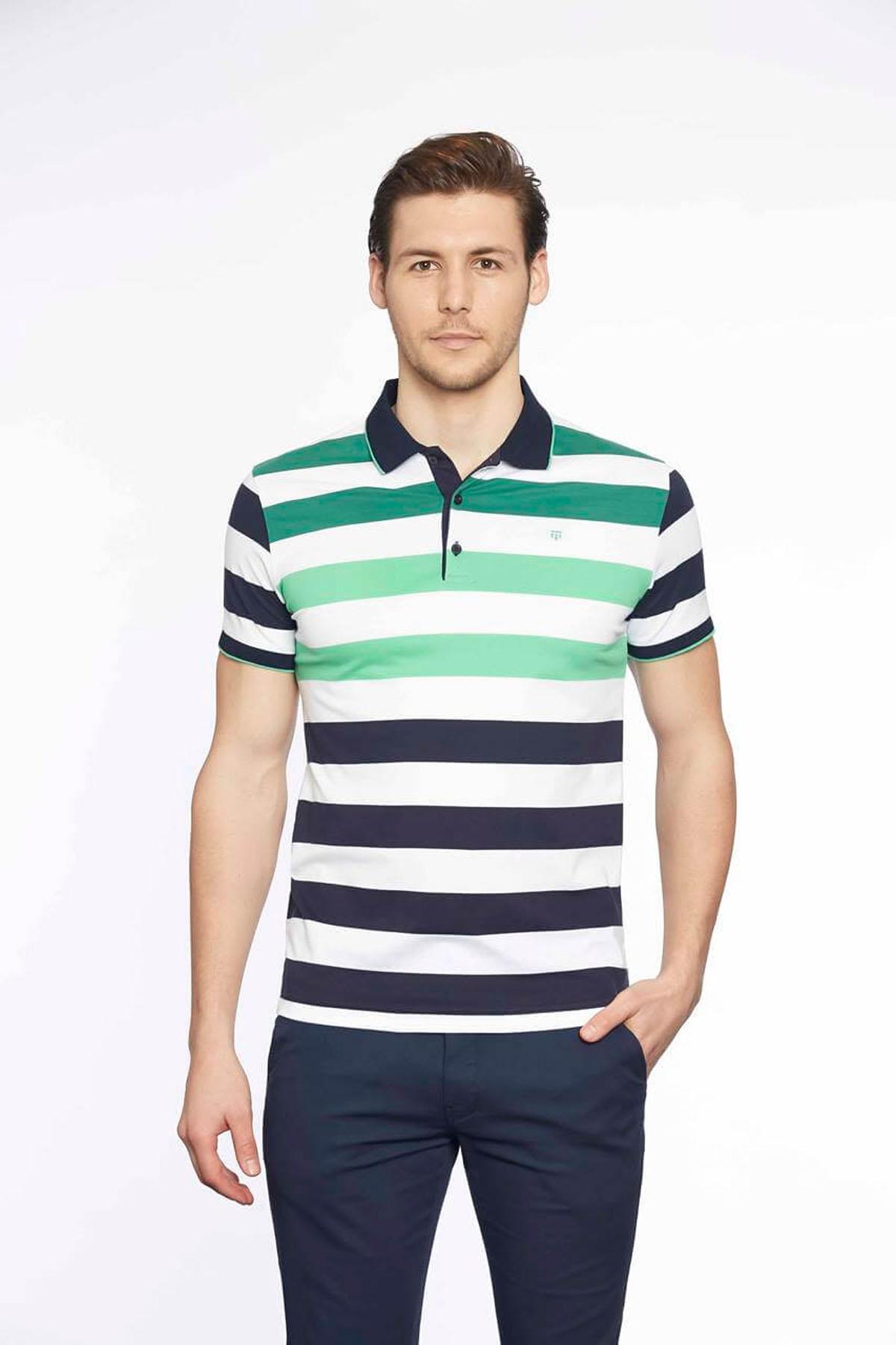 Polo Yaka Erkek T-Shirt Laci R.Yeşil