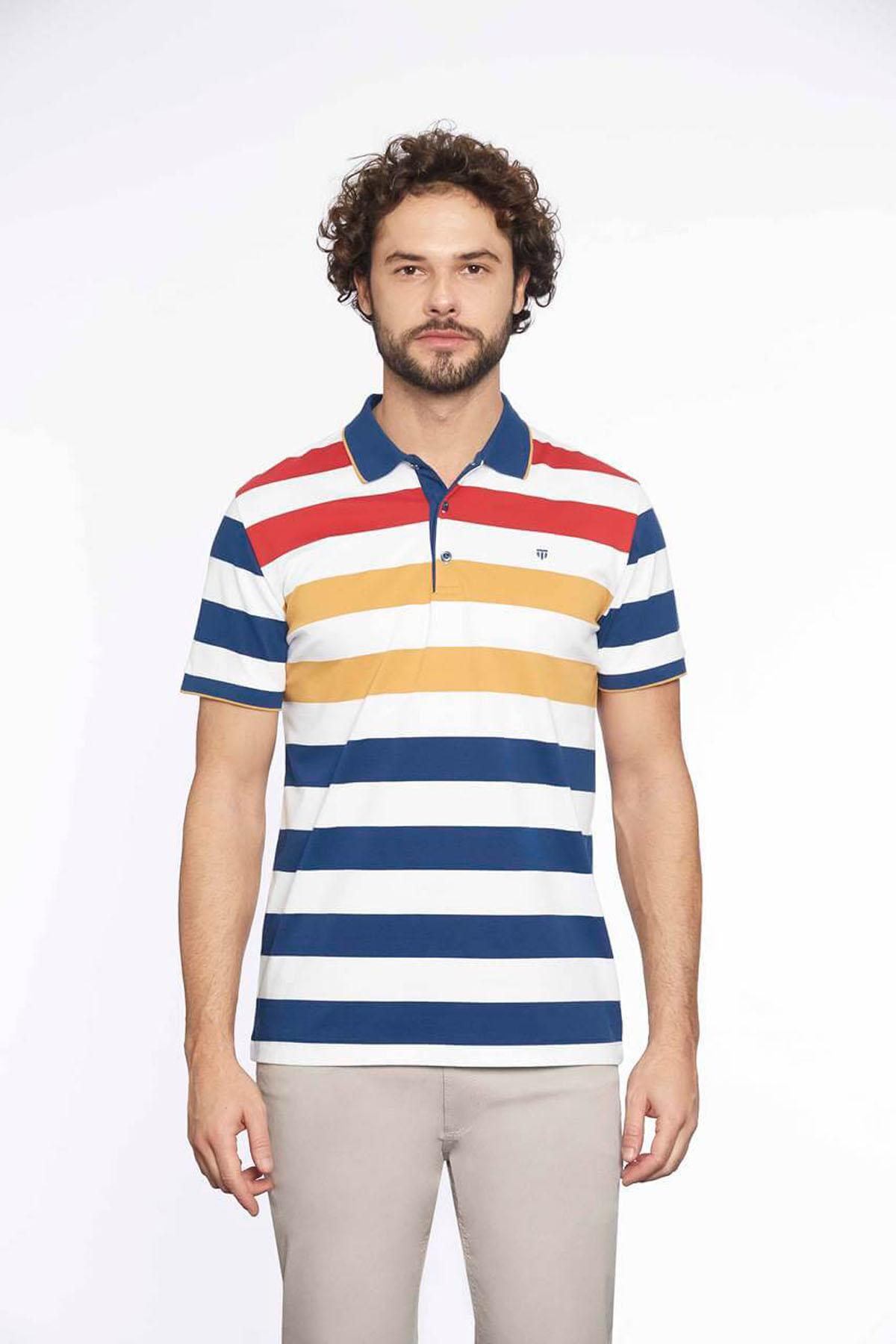Polo Yaka Erkek T-Shirt Marine Hardal