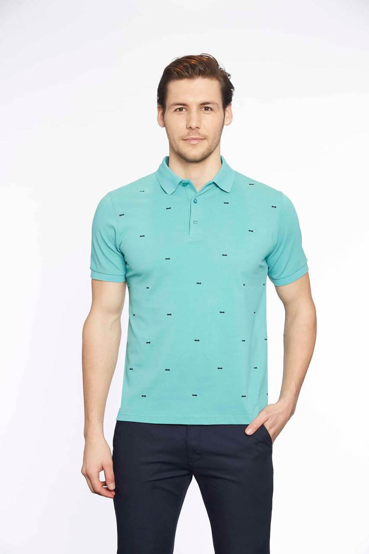 Polo Yaka Erkek T-Shirt Mint