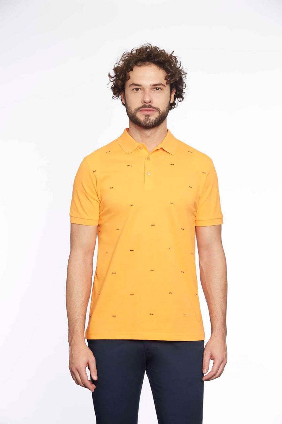 Polo Yaka Erkek T-Shirt Melon
