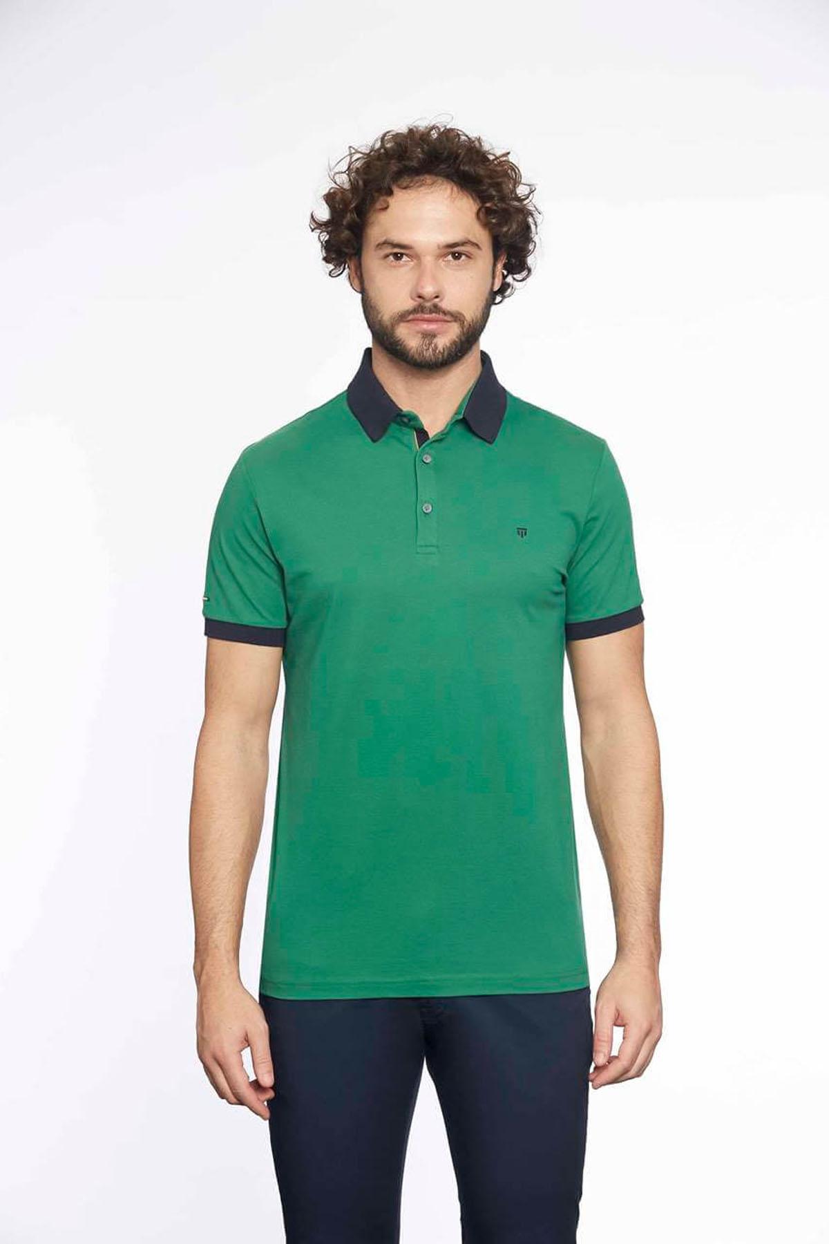 Polo Yaka Erkek T-Shirt Nefti