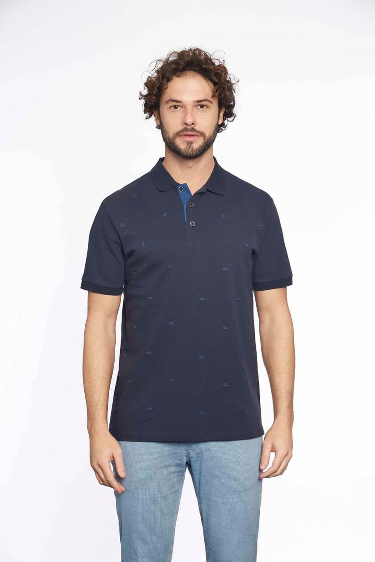 Polo Yaka Erkek T-Shirt Lacivert