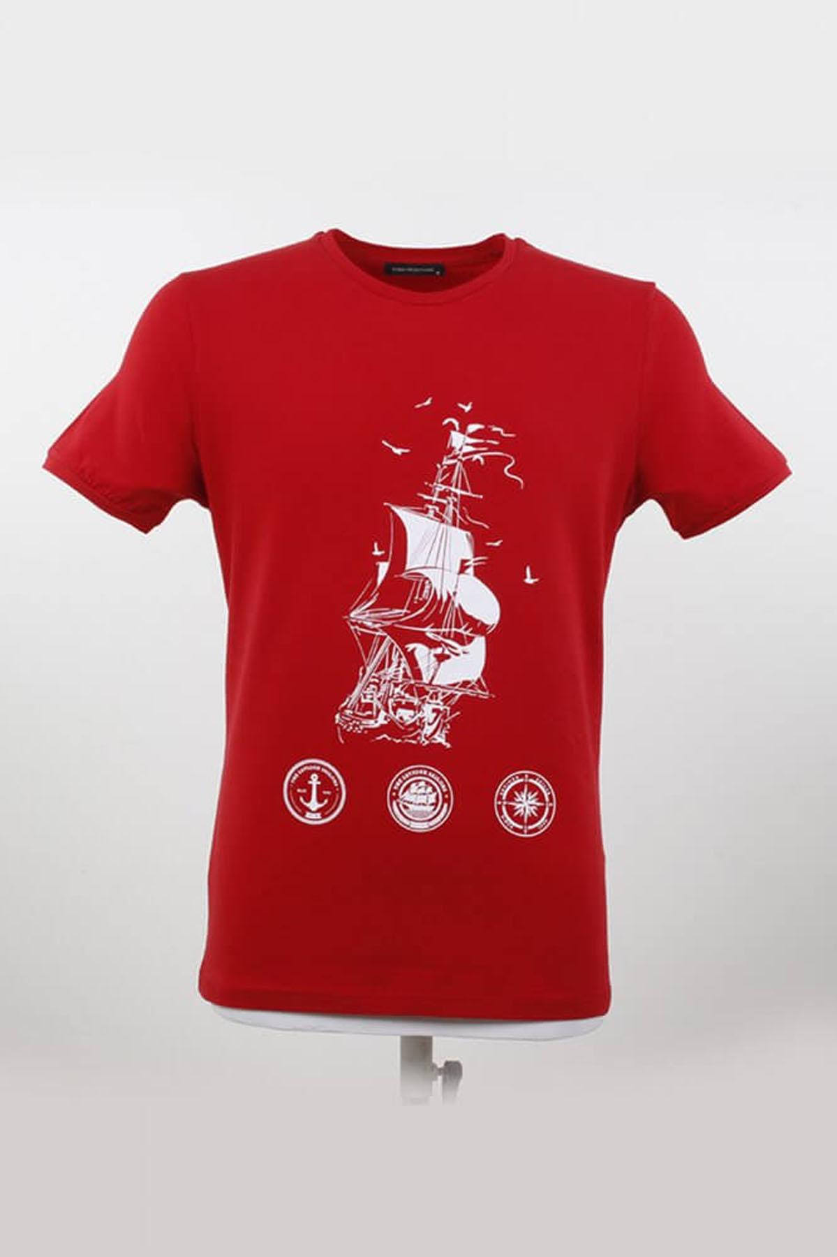 Bisiklet Yaka Gemici T-Shirt