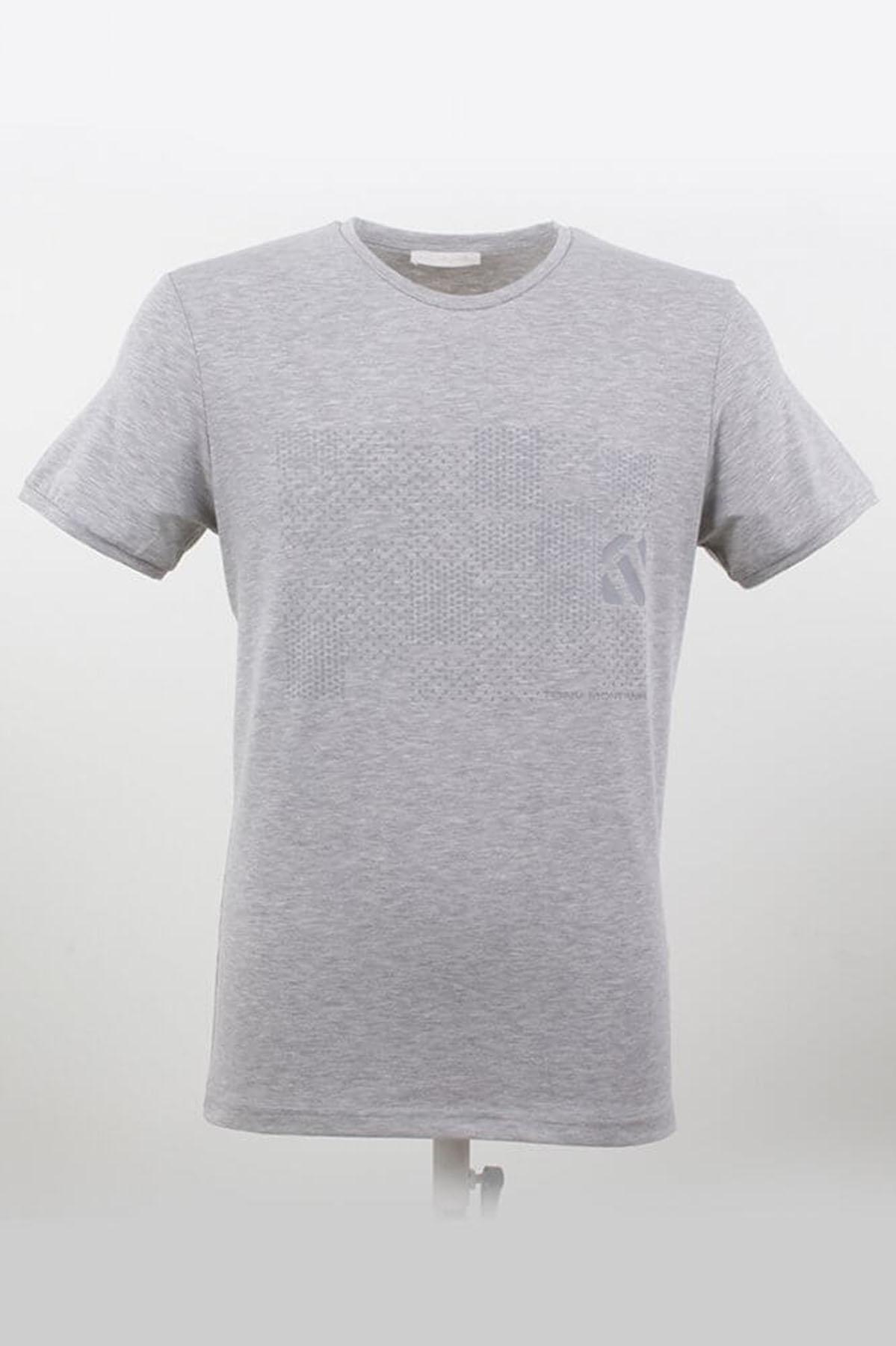 Büyük Beden Bisiklet Yaka Grimelanj T-Shirt