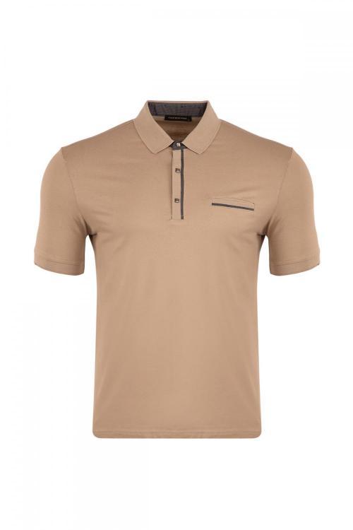 Büyük Beden Cepli Polo Yaka T-Shirt