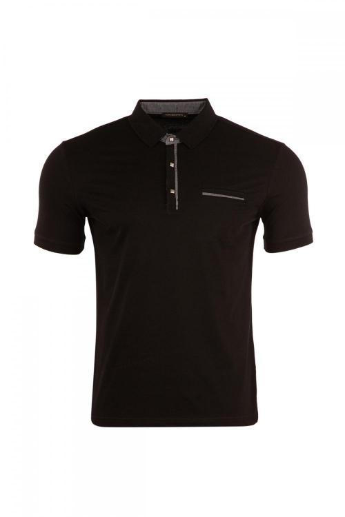 Large Size Pockets Polo Neck T-Shirt