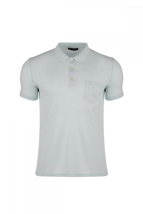 Büyük Beden Klasik Cepli Polo Yaka T-Shirt