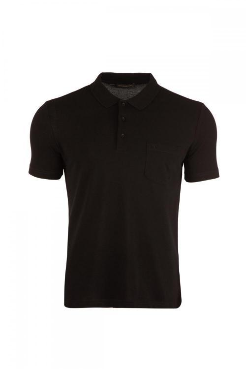 Plus Size Classic Pocket Polo Neck T-Shirt