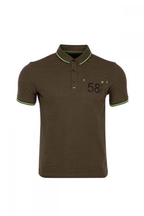 Büyük Beden Polo Yaka Baskı Detaylı T-Shirt