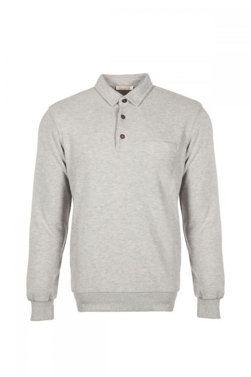 Büyük Beden Polo Yaka Sweatshirt