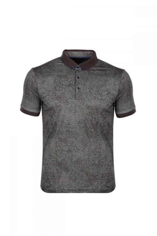 Büyük Beden Regular Fit Baskılı Polo Yaka T-Shirt