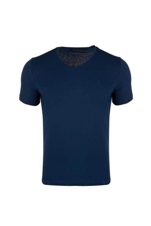 Büyük Beden V Yaka Regular Fit T-Shirt
