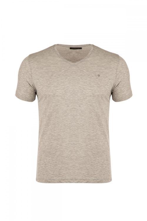 Plus Size V Neck Regular Fit T-Shirt