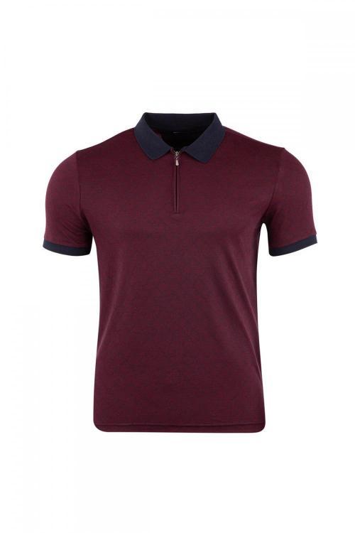 Jacquard Regular Fit Polo Neck T-Shirt