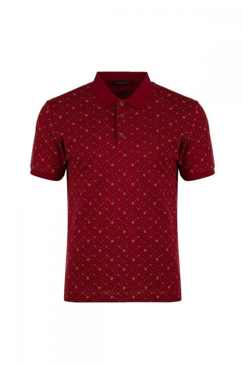 Polo Yaka Baskılı Regular Fit T-Shirt