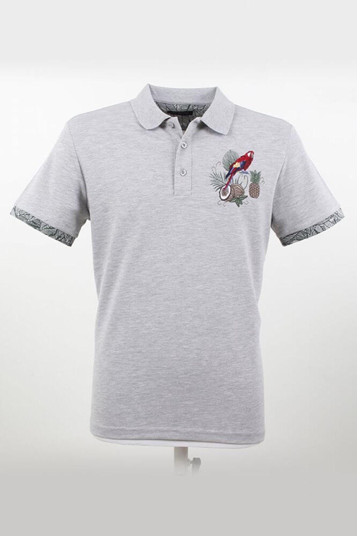 Polo Yaka Desenli Grimelanj T-Shirt