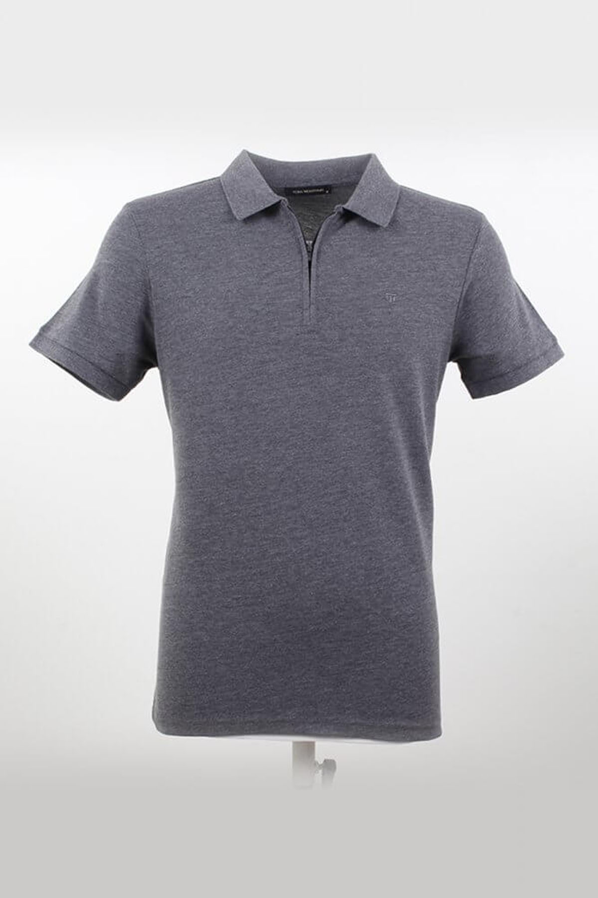 Polo Yaka Fermuarlı Fumel T-Shirt