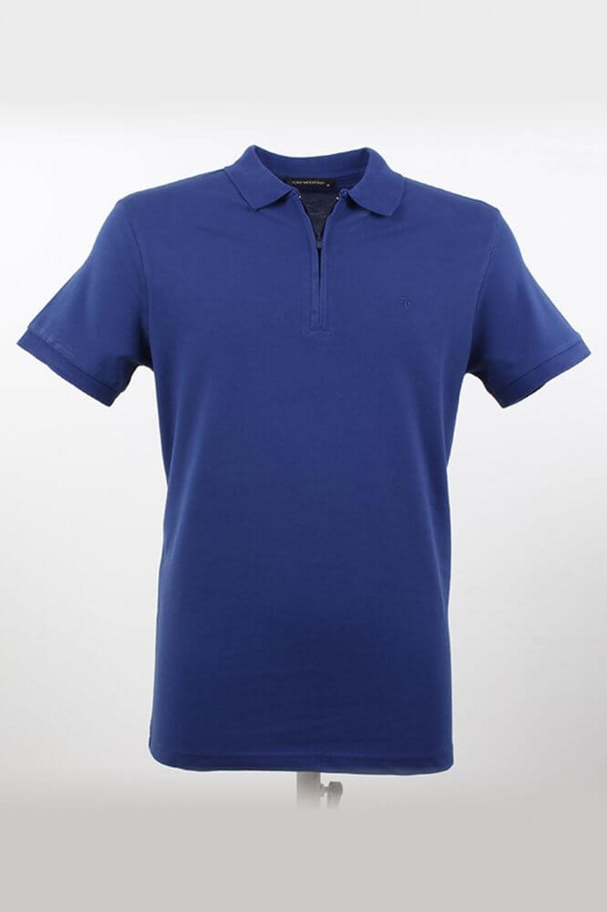 Polo Yaka Fermuarlı Marine T-Shirt