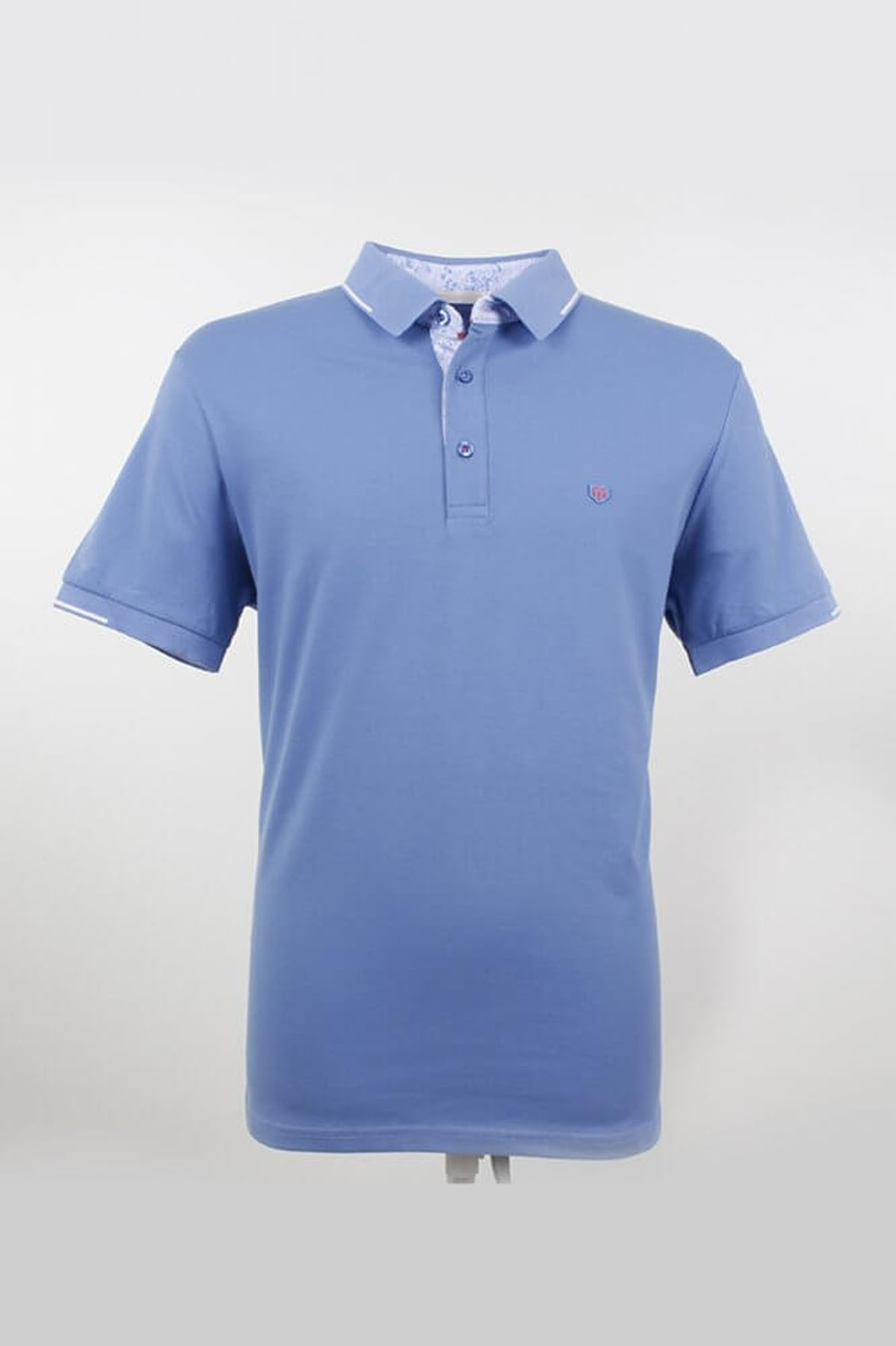 Polo Yaka Mavi T-Shirt