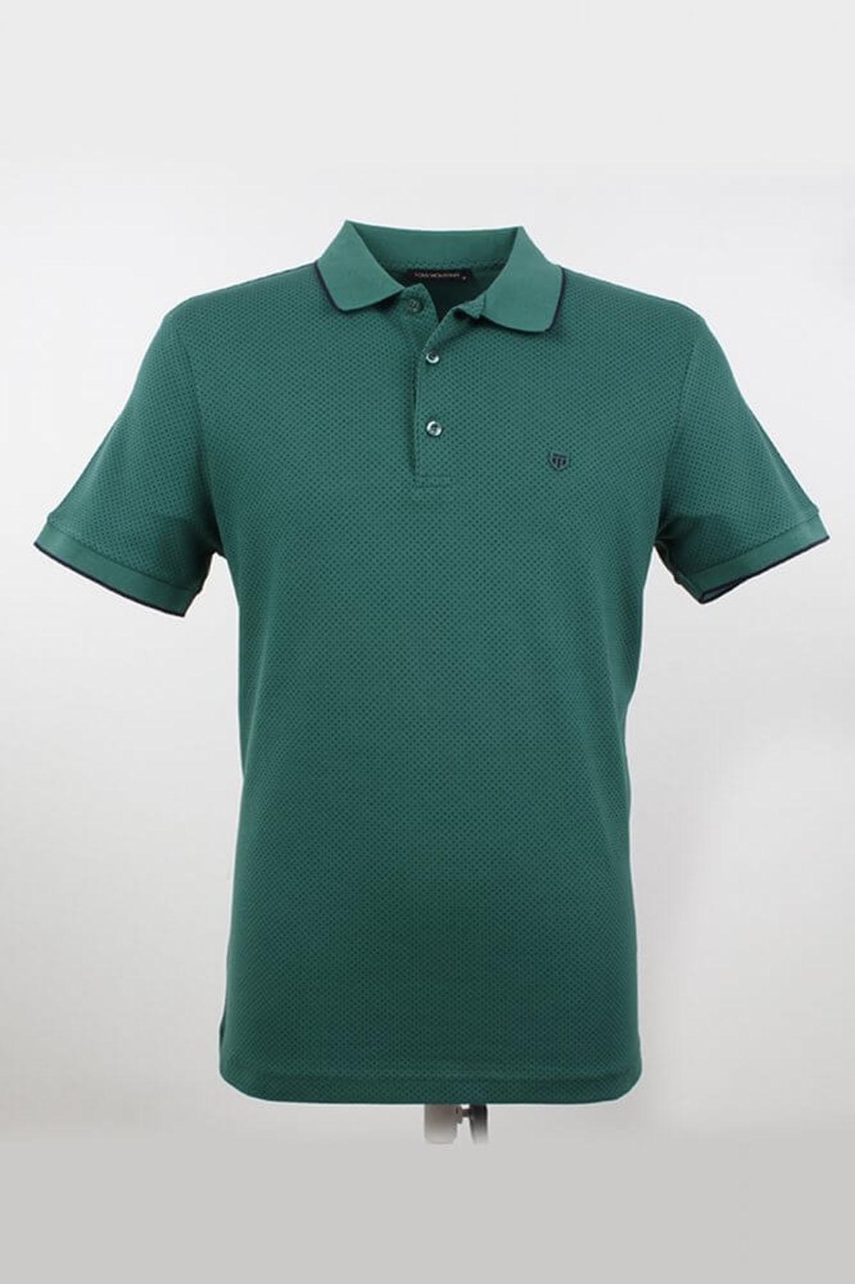 Polo Yaka Noktalı Nefti T-Shirt