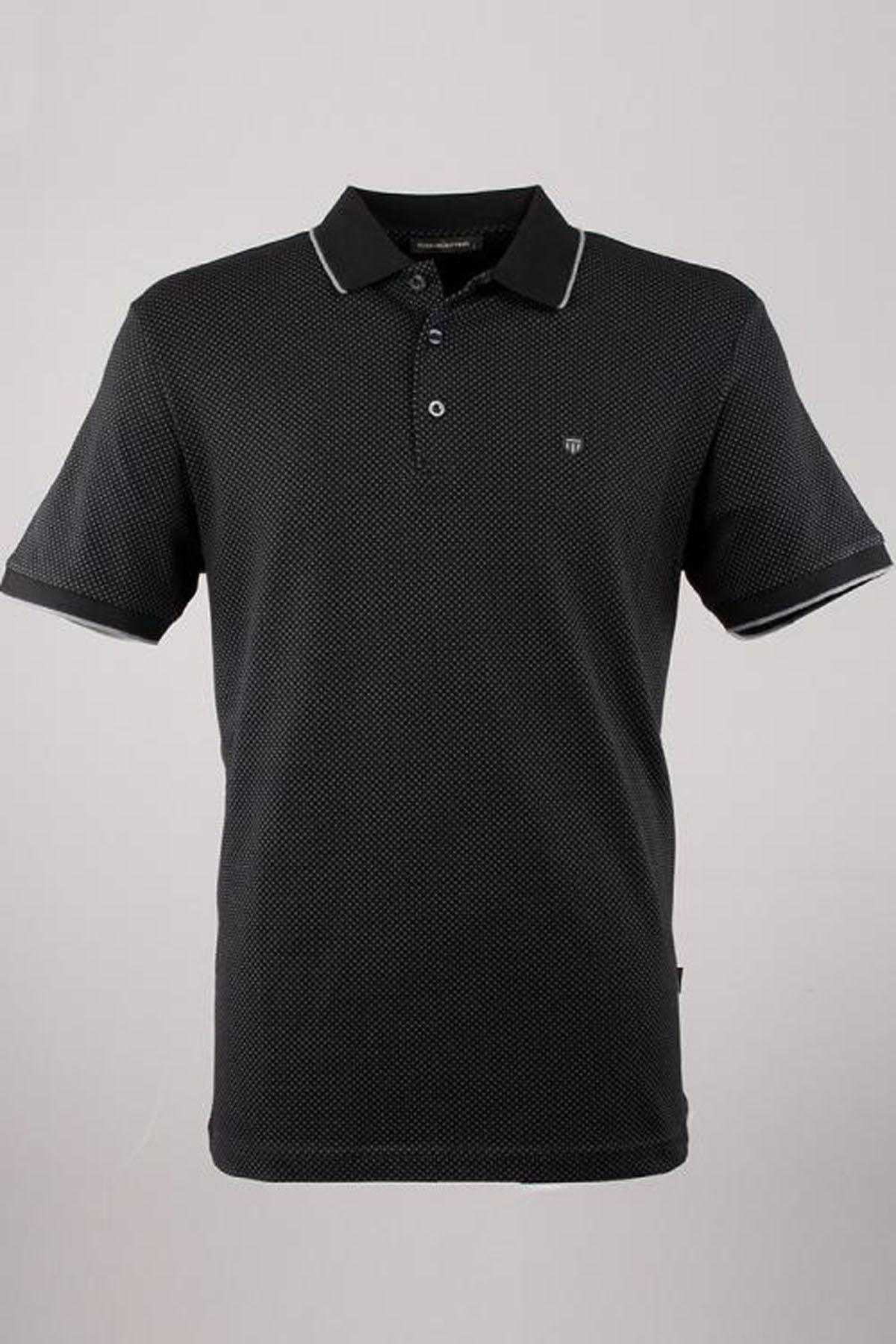 Polo Yaka Noktalı T-Shirt