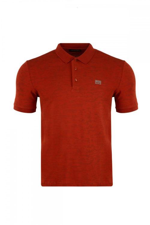 Polo Yaka Regular Fit Desenli T-Shirt