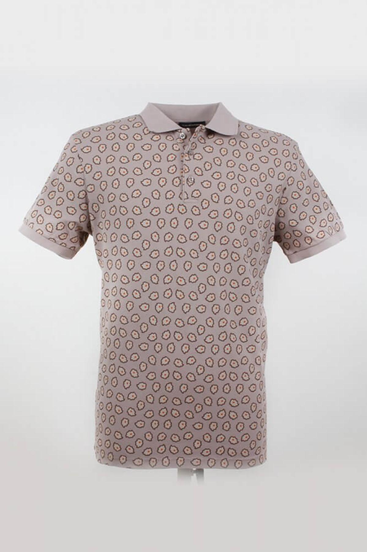 Polo Yaka Tamamı Desenli K.GriT-Shirt