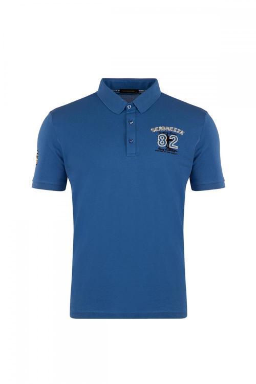 Regular Fit Polo Yaka Baskı Detaylı T-Shirt